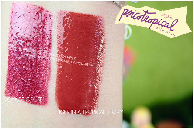 VERNISSAGE GLOSS  swatches psicotropical collection neve cosmetic