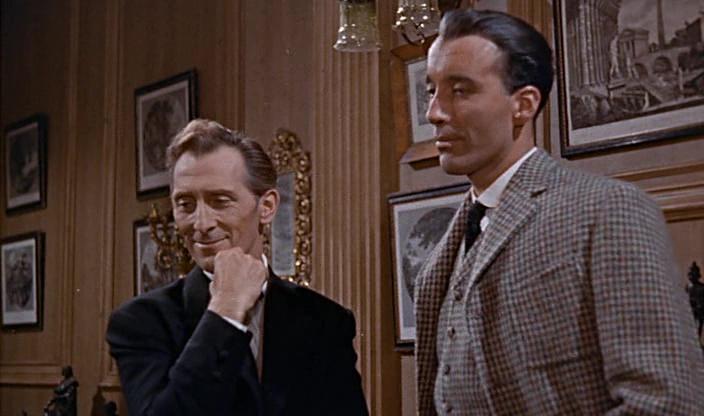 Peter Cushing - Sherlock Holmes / Christopher Lee - Sin Henry de Baskerville