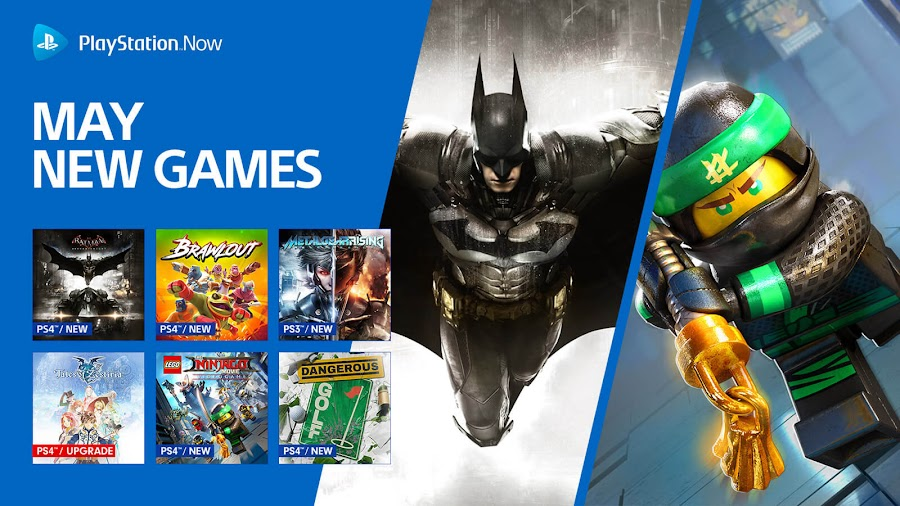 playstation now batman arkham knight brawlout metal gear rising revengeance ps4 lineup