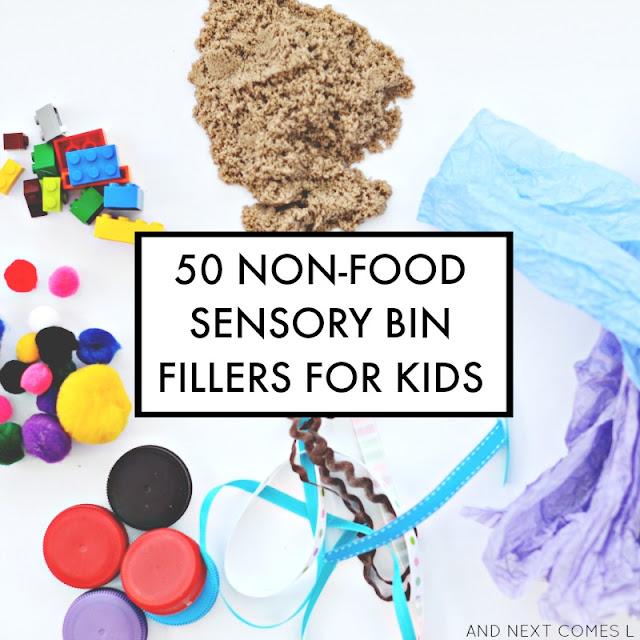 50 non-food sensory bin fillers