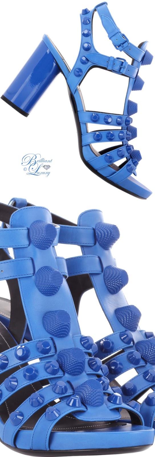 Brilliant Luxury ♦ Balenciaga Giant Leather Sandals