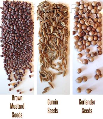 Brown Mustard - Cumin  - Coriander seeds