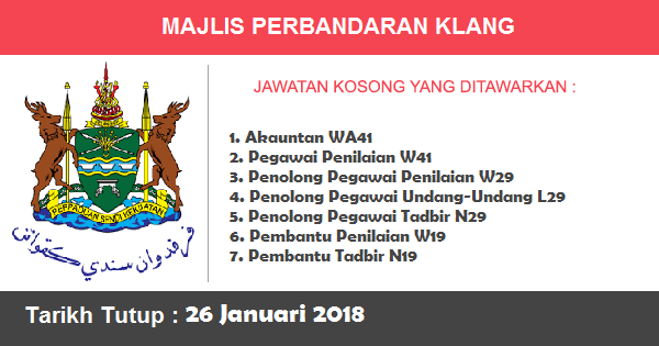 Jawatan Kosong di Majlis Perbandaran Klang