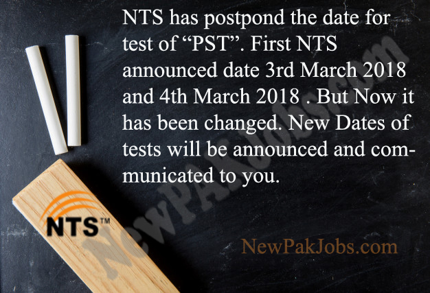 NTS Test Information of PST is postponed,Late, Cancel, Date Changed, Directorate of Elementary and Secondary Education,KPK