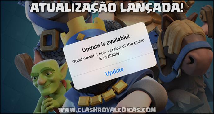 Change log atualização Clash Royale