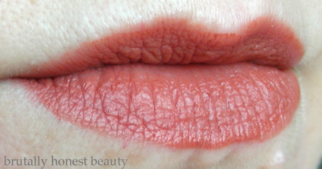 Swatch of Colourpop Blotted Lip in Candyfloss