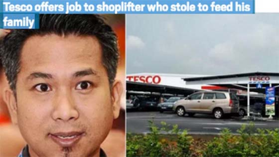 Kisah Tesco Bukit Mertajam Bagi Pencuri Pekerjaan Viral