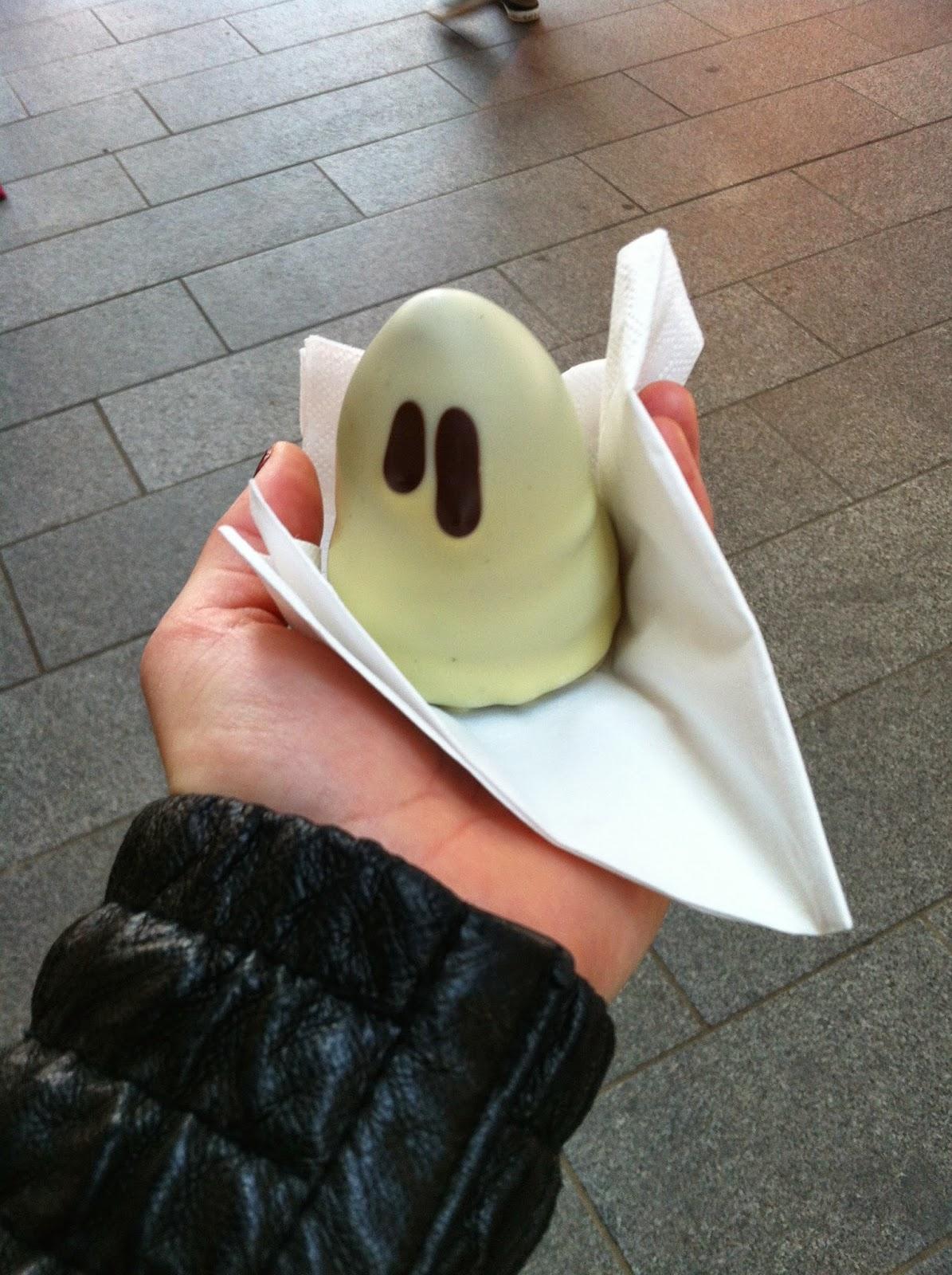 a licorice ghost from Summerbird in Copenhagen