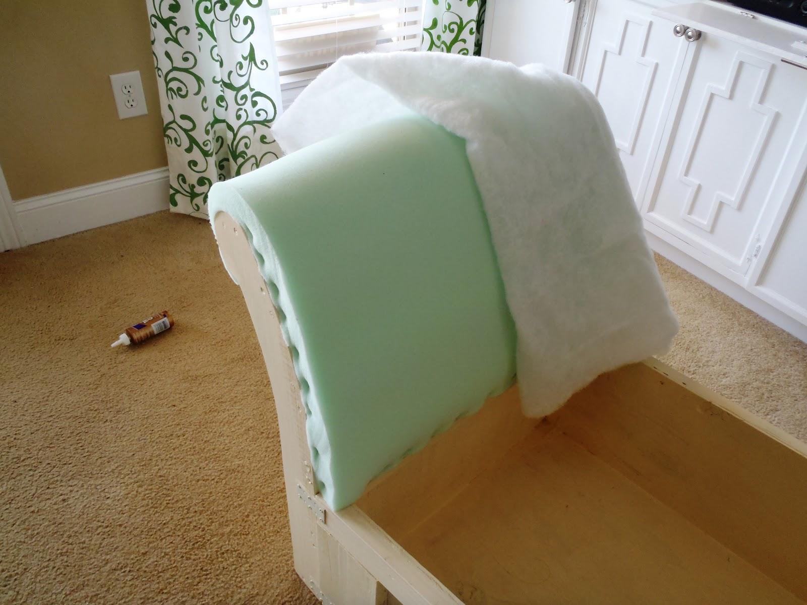Add The Foam On Backrest And Batting