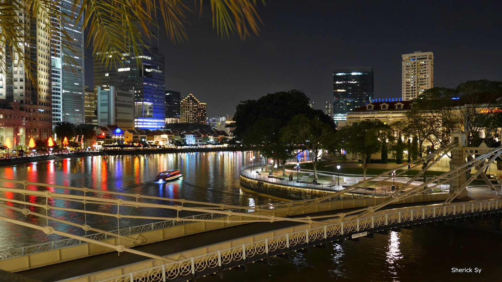 Boat Quay at Night, Singapore River