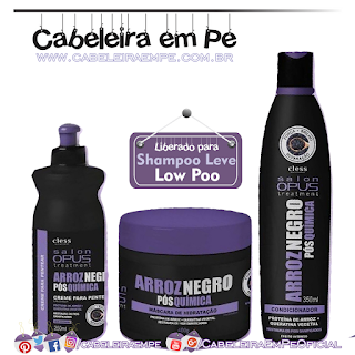 Condicionador e Máscara Arroz Negro - Salon Opus (Low Poo)