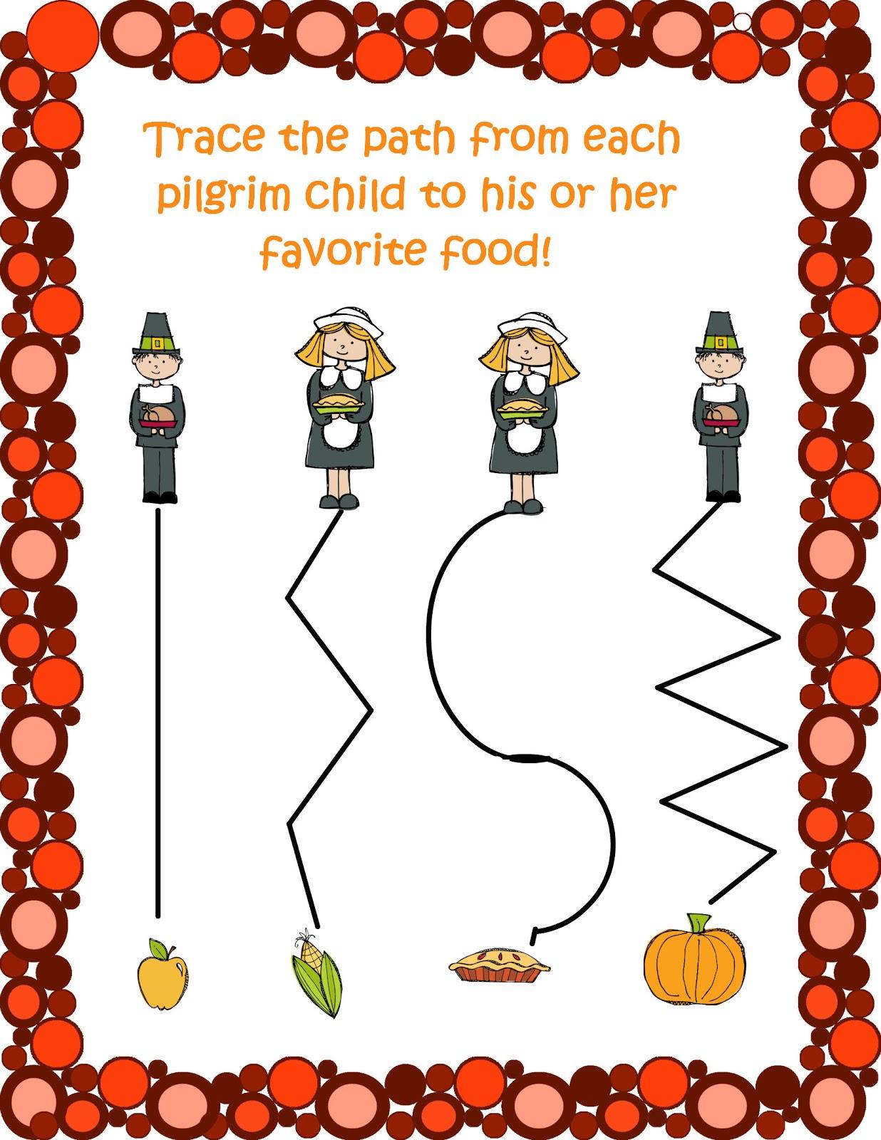 3 Day Freebie Thanksgiving Preschool Packet