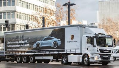 Porsche coloca em operação o novo caminhão elétrico da MAN