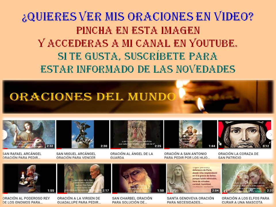 SIGUE MI CANAL DE ORACIONES EN YOUTUBE