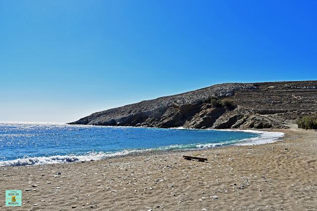 Playa Livadi, isla de Folegandros (Grecia)