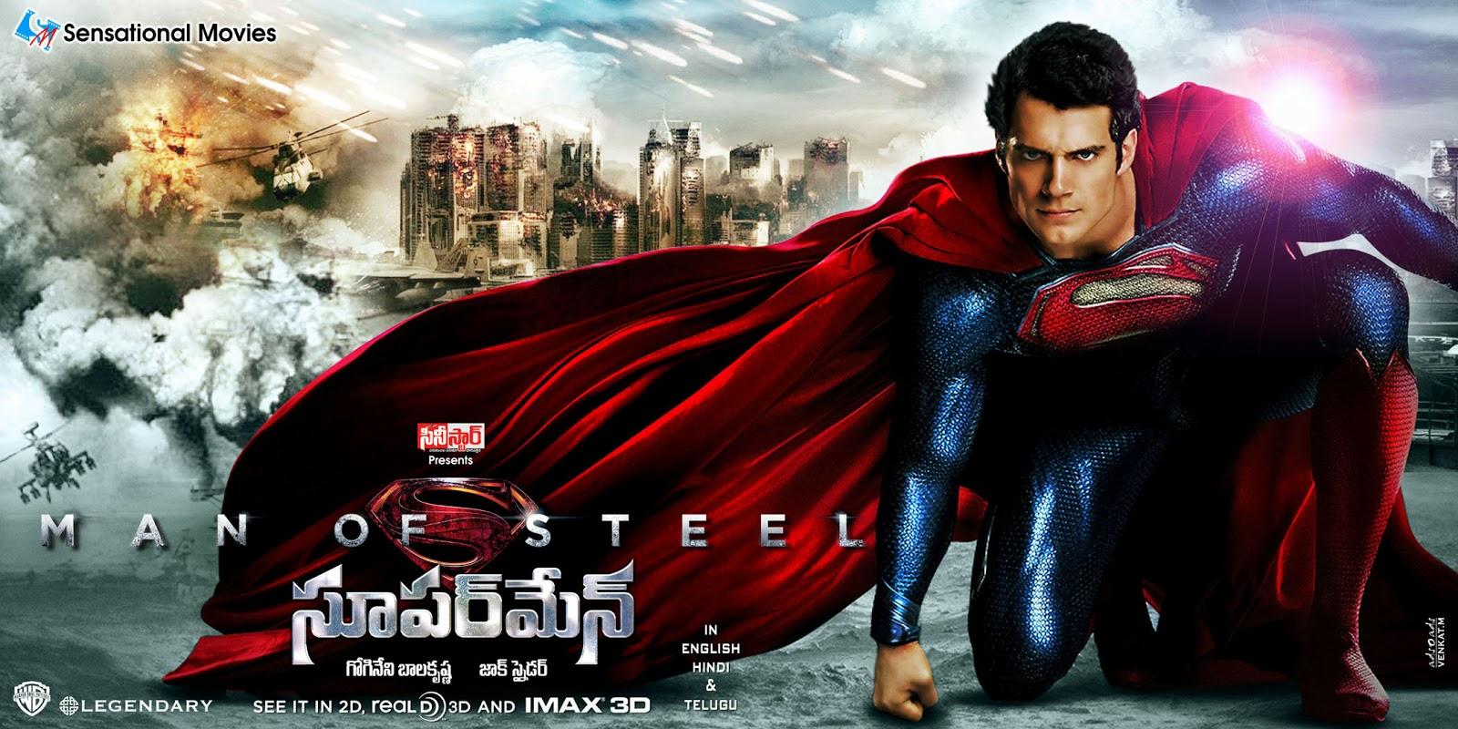Man of Steel - Superman Wallpapers (Telugu) - TollyCinema365