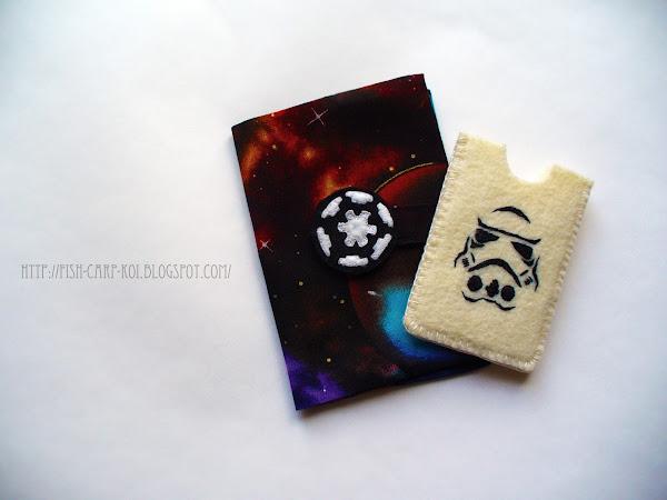 """Комплект для поклонников """"Звездных войн"""" - холдер для карты и обложка на паспорт"""