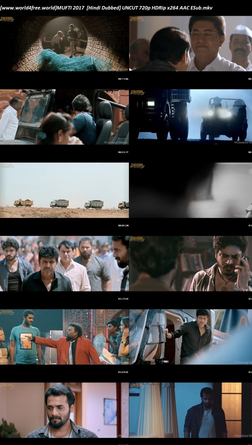 Screen shoot of Mufti 2017 Hindi Dubbed Movie Download 720p HD