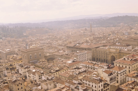 2 days in Florence duomo view from top of cupola red roofs
