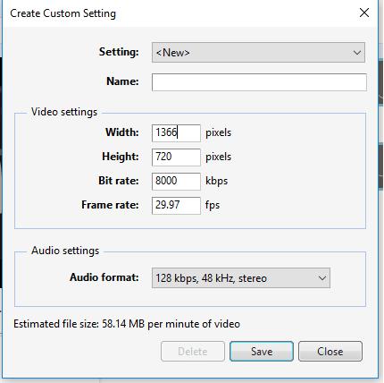 Custom Resolusi Video