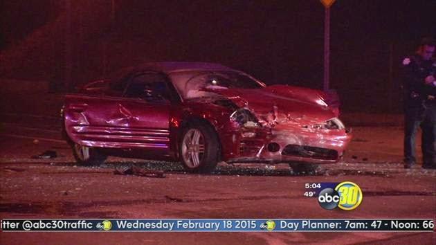 fresno drunk driver vehicle crash tower district taxi hit