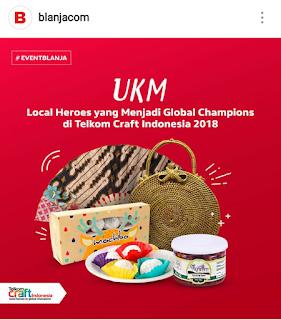 Peran portal Blanjacom dalam pengembangan UKM Asli Indonesia