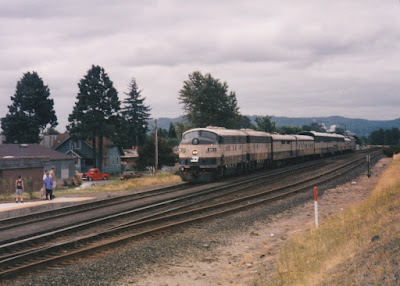 Burlington Northern Executive Train in Kelso, Washington