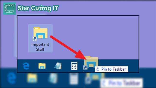 Hướng dẫn cách ghim thư mục vào thanh Taskbar
