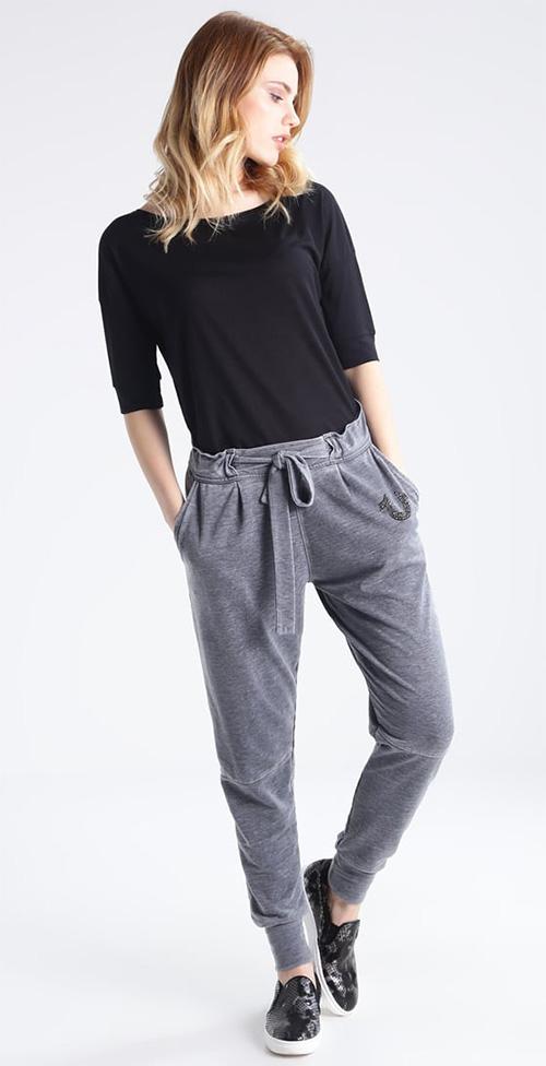 Pantalon jogging habillé femme gris True Religion