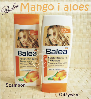 Magiczne działanie nawilżające produktu Balea - szampon nawilżający mango i aloes