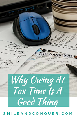 It's not such a bad thing to owe money at tax time.
