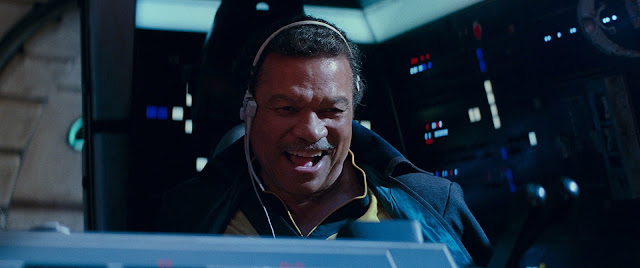 lando calrissian flying the millennium falcon