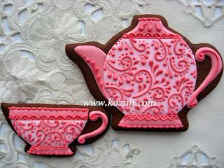 Пряники Чайник и чашечка