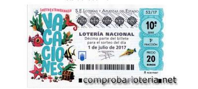 Sorteo extraordinario de vacaciones de loteria nacional