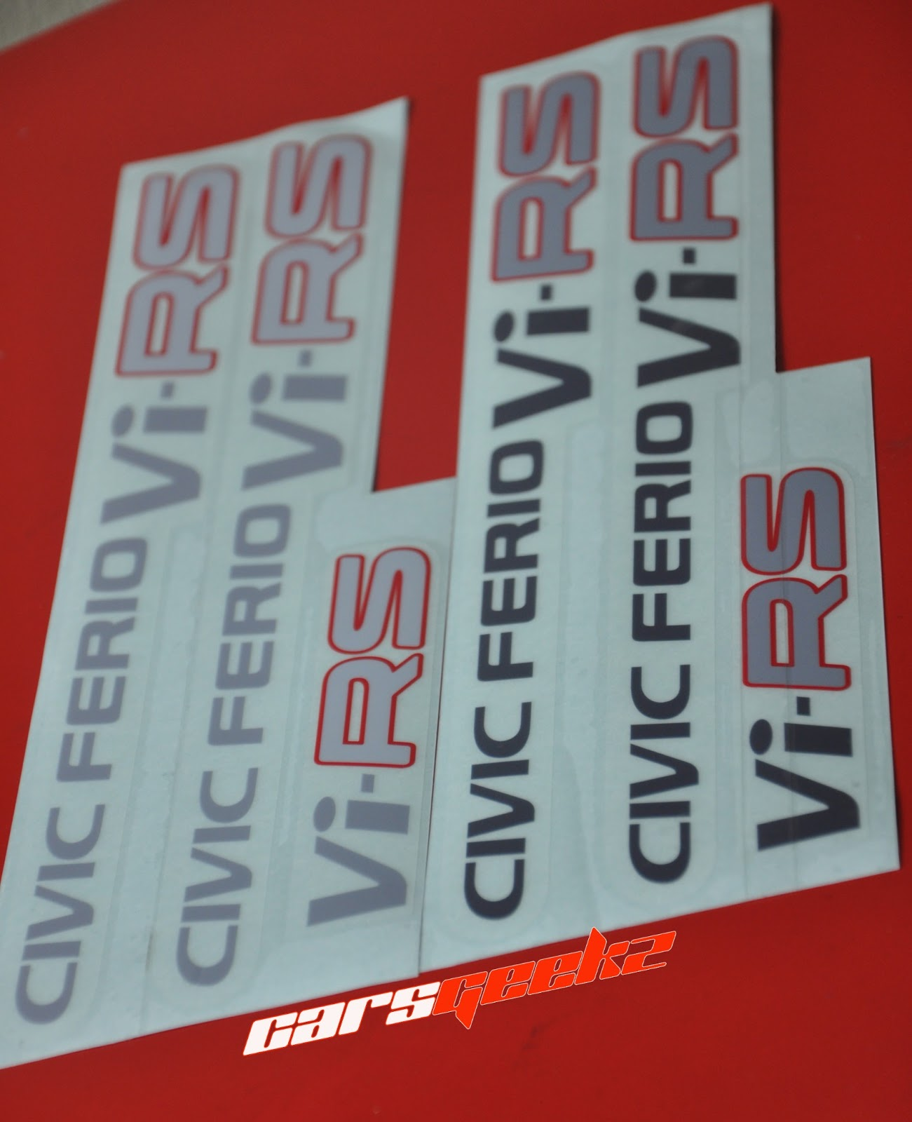 honda civic sticker