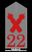 Schulterklappe des Masurischen Fußartillerie Regiments No. 22
