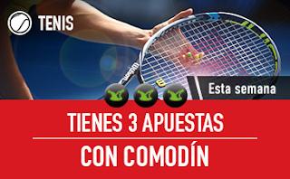 sportium Tenis: 3 Apuestas con Comodín 14-20 mayo