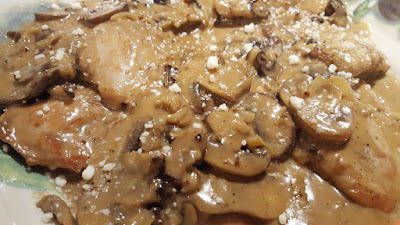 Chicken Thighs in Mushroom-Onion Cream Sauce