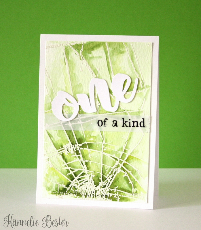 peridot inspired watercolor card