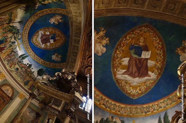 santa cruz jerusalem afresco abside guia portugues roma - A basílica de Santa Cruz em Jerusalém