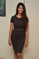 Priya Vadlamani super cute in tight brown dress at Stone Media Films production No 1 movie announcement 020.jpg