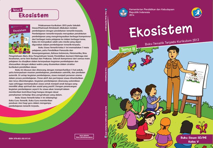 Download Buku Tematik Kurikulum 2013 SD/MI Kelas 5 Tema 8 Ekosistem Edisi Revisi Format PDF