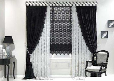 The best types of curtains and curtain design styles 2019, black and white curtain design