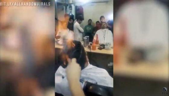 Video Rebonding Dengan Api Yang Lagi Trend di Timur Tengah