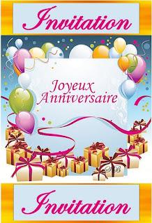 Carte Invitation Imprimer Gratuit Modeles