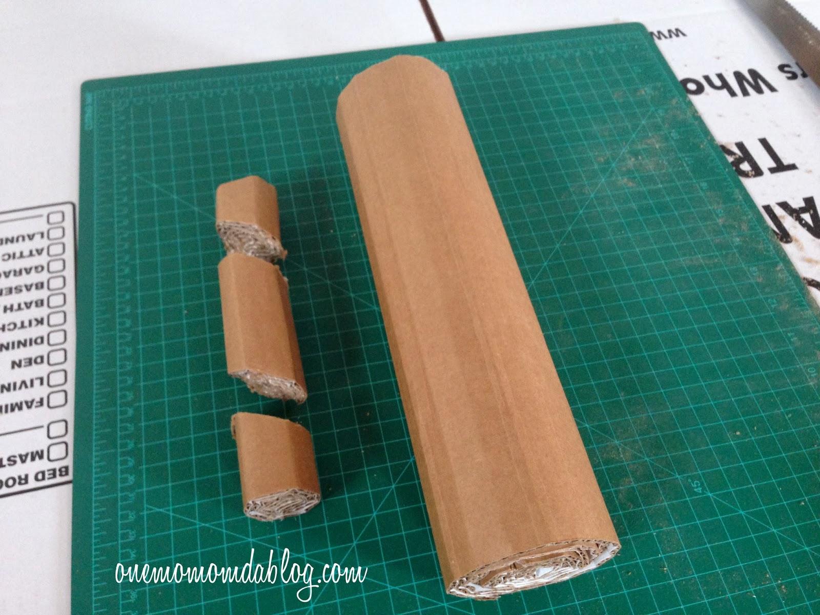 how to make a cardboard fireplace one mom and a blog