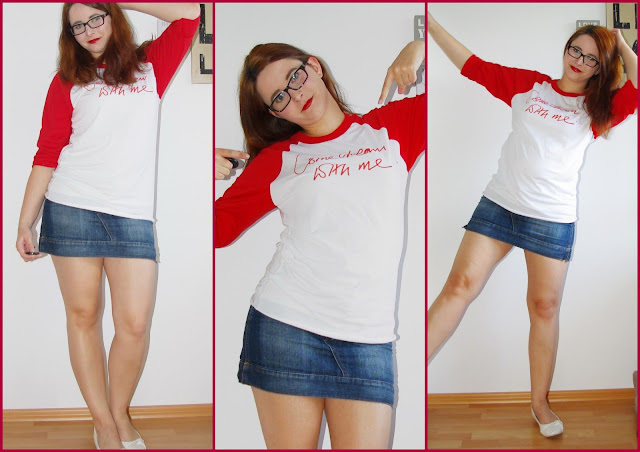 [Fashion] Come Dream With Me Charity Tee by Bonnie Wright: Shirt and Jeans Skirt