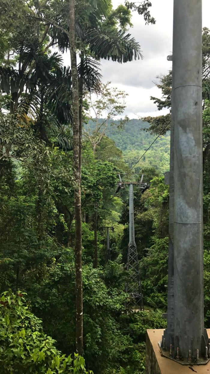 Ariel tram in Costa Rica