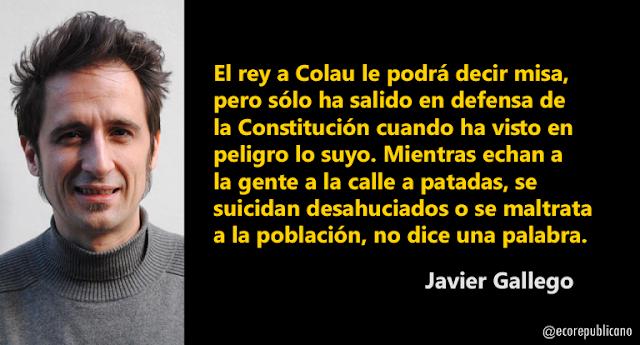 Javier Gallego: Plantar cara al rey