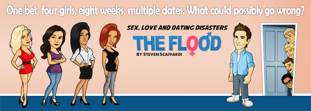 Pre-order, Amazon, Kindle, 99p, 99c, Bargain, eBook, Lad Lit, Comedy, Humor, Humour, The Flood, Sex Love and Dating Disasters, Steven Scaffardi